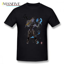 Aria T Shirt From Mass Effect Sumi And Watercolor Style T-Shirt Oversize Man Tee Printed Cute Streetwear Tshirt