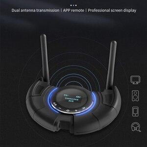 Image 2 - Odbiornik Bluetooth nadajnik wyświetlacz LCD obsługa aptX krótki czas oczekiwania bezprzewodowy Adapter Audio z 3.5mm Aux SPDIF 120M daleki zasięg