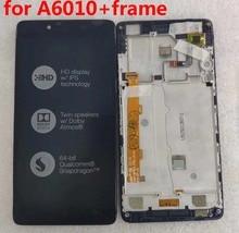 """5.0 """"Lenovo A6010 lcd ekran dokunmatik ekranlı sayısallaştırıcı grup çerçeve yedek parçaları Lenovo A6010 ekran 1280x720"""