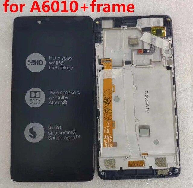 """5.0 """"레노버 a6010 lcd 디스플레이 터치 스크린 디지타이저 어셈블리 프레임 교체 부품 레노버 a6010 디스플레이 1280x720"""