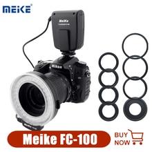 Meike Meke FC100 حلقة ماكرو ضوء فلاش صور Speedlight لكانون نيكون أوليمبوس بنتاكس DSLR كاميرا EOS 650D 60D D7100 D5300