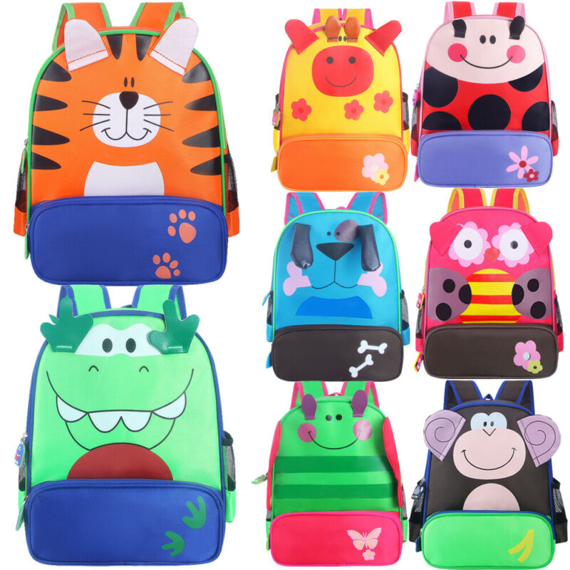2019 New Toddler Kid Children 3D Cartoon Animal Backpack Boys Girls Cute Kindergarten Nursery School Bag Rucksack