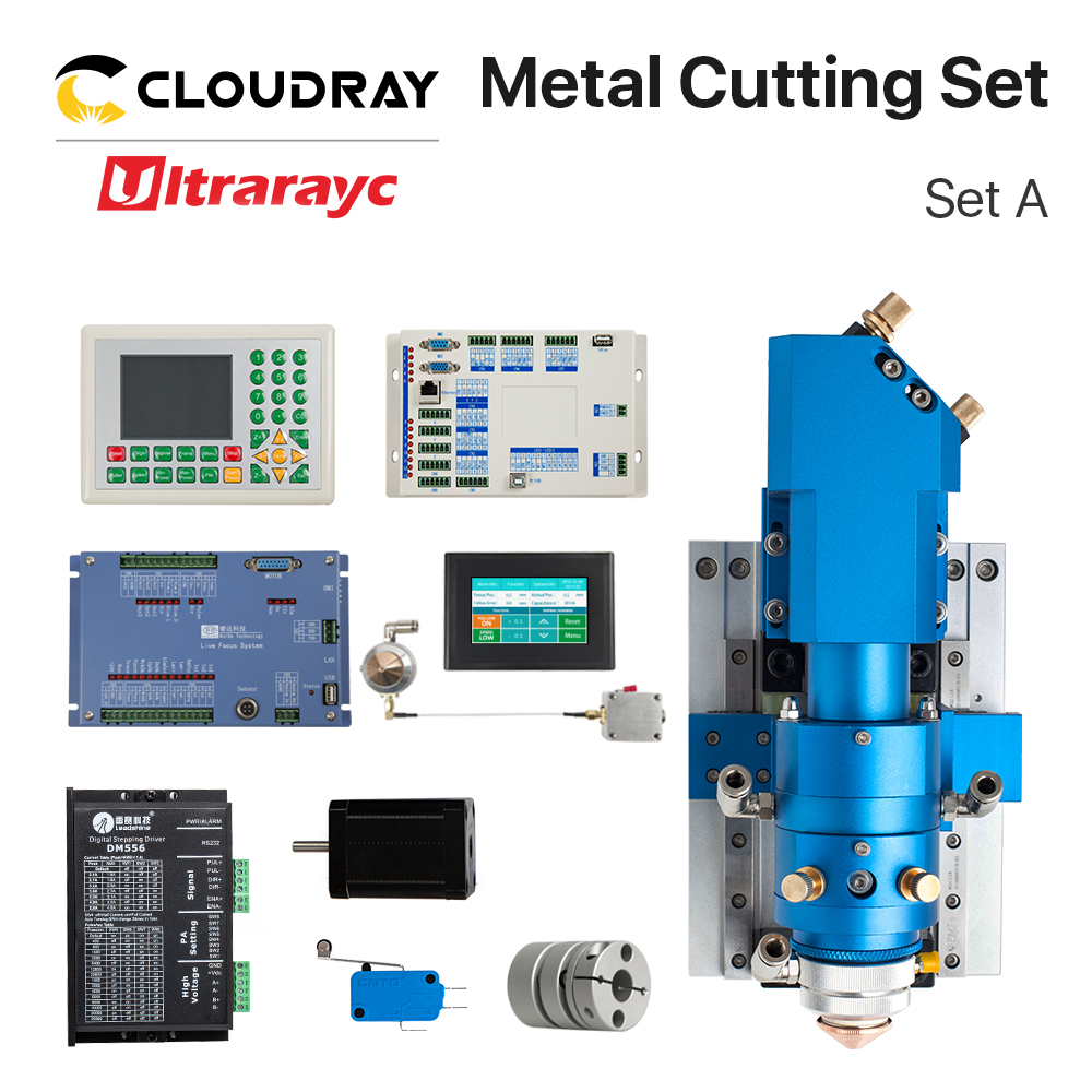 Ultrarayc  Ruida Metal Cutting Set CO2 Laser 150-500W Metal Non-Metal Hybrid Auto Focus For Laser Cutting Machine