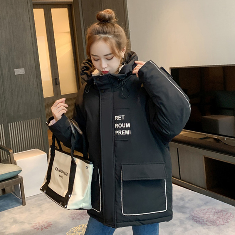 2019 Winter Jacket For Women Hooded Stand Collar Female Coat Autumn Ladies   Parkas   Winter With Big Pocket Special Design