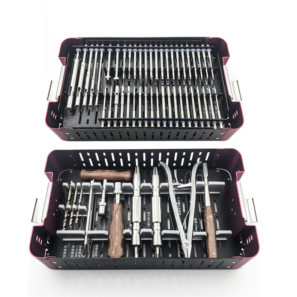 56pcs/set Orthopedics Screwdriver Surgical Screw Extractor Screw Broken Removal  Instrument Orthopaedic Instruments