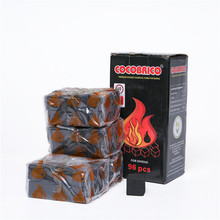 Hookah Shisha Charcoals Quick-Light For-Pipes Chicha Narguile Silver Burn 96pcs Coal-Touch