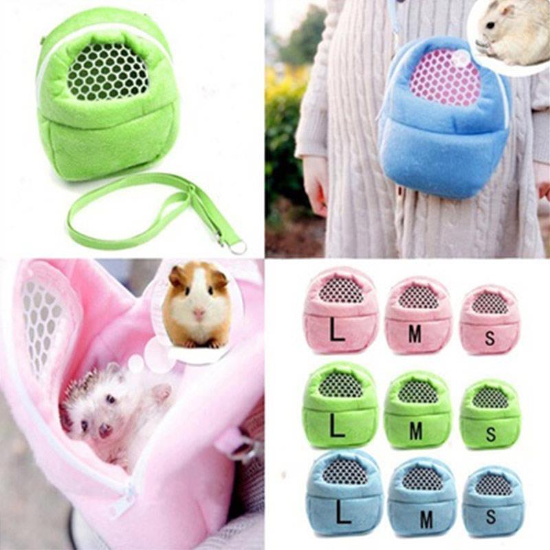 Rat Pocket Pet Travel Bag Short Plush 3 Color Hedgehog Carrier Chinchilla Small Cute Hamster Shoulder Bag Ferret Storage Puppy