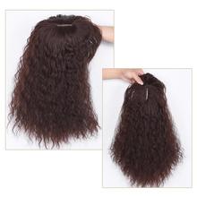 Women Curly hair Brazilian Human hair Non-remy Hair Overhead replacement patch 100 Human hair cornperm wig Black Wig Women tanie tanio SalonChat Brazilian Hair CN(Origin)