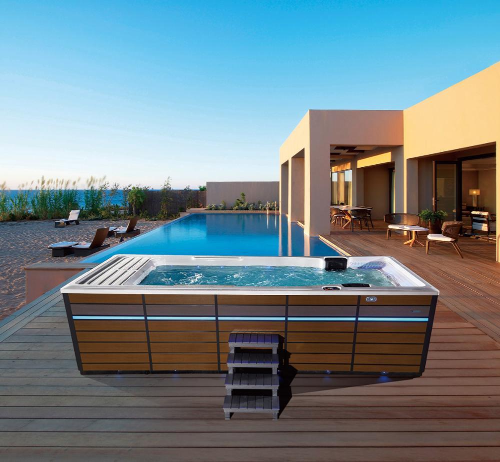 Fábrica promoção fábrica piscina exterior com escadas piscina metal quadro BG-6658-1