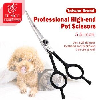 Fenice, tijeras curvas para el cuidado de mascotas, profesionales, de 5,5 pulgadas,...