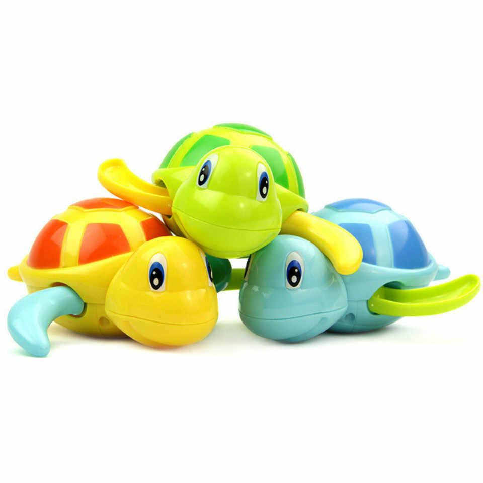 Adorável Novo Banho Do Bebê Dos Desenhos Animados Flutuante Tartaruga De Borracha Do Banheiro Clássico Brinquedo Da Água Do Bebê de Natação Do Bebê Do Bebê Tartaruga Cadeia Sinuosa C