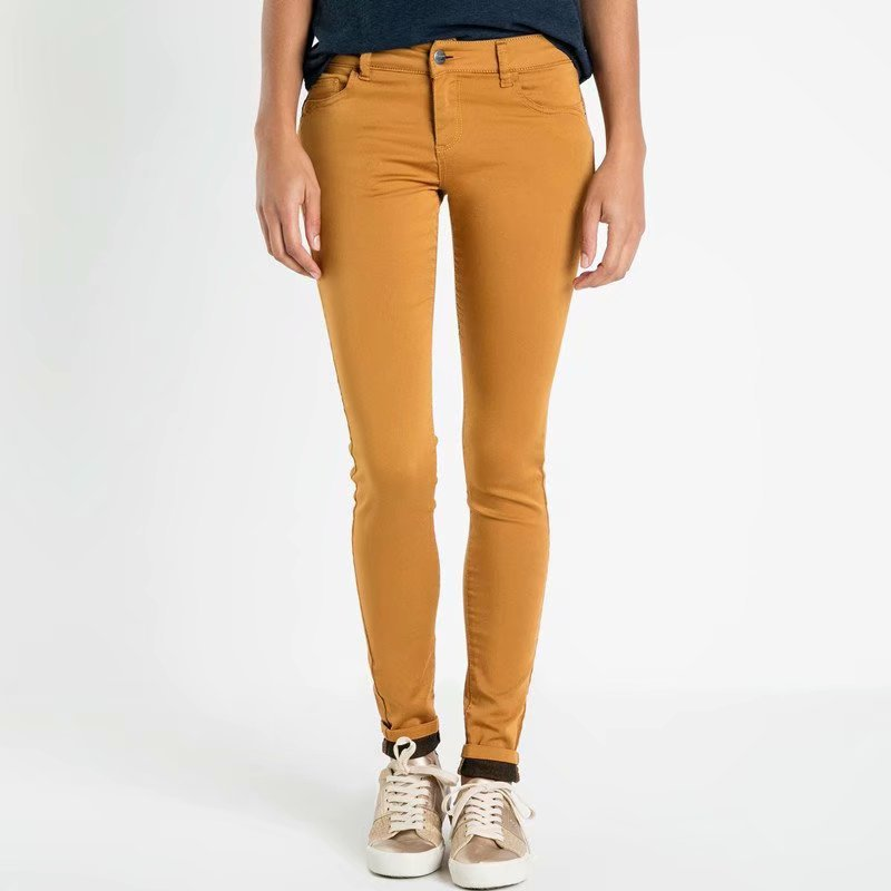 Europe And America Retro Street Snap-Style Super Soft High-waisted Slimming Leggings Camel Casual Skinny Trousers Pencil Pants W
