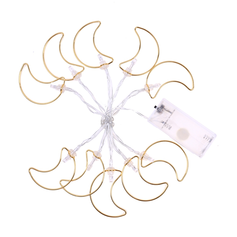 1.1M 10 Led Moon String Lights Led Fairy Lights Christmas Wedding Decoration Lights Battery Operated Twinkle Lights