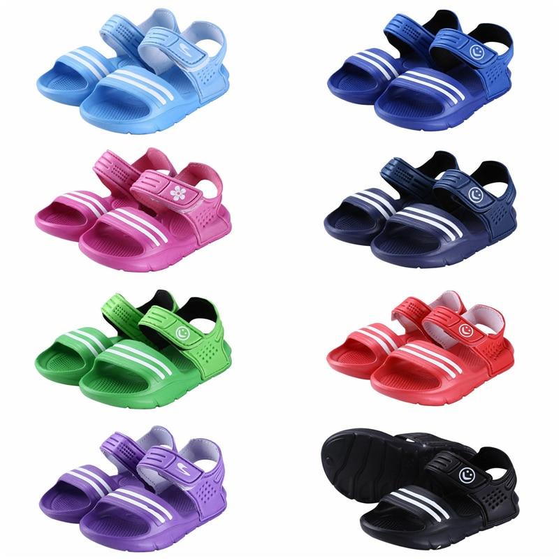 2020 Summer Kid Newborn Infant Baby Boy Girls Fashion PVC Shoes Soft Sole Beach Sandals Shoes 4 Color Hot