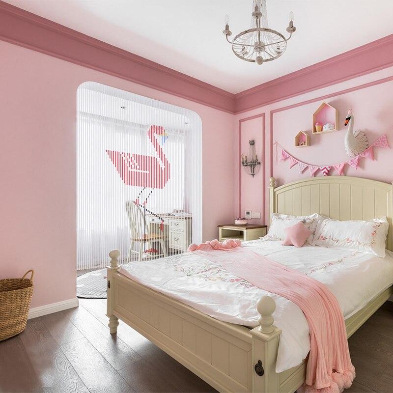 Cristal de luxe rideau perles de verre chaîne porte rideau à la main Flamingo fenêtre chambre diviseur décoration de la maison cortina - 2