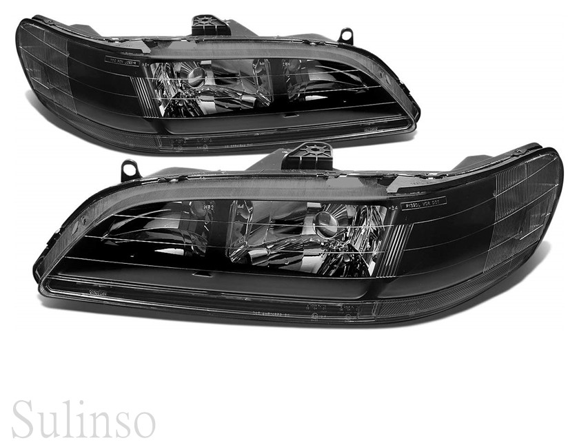 Headlights Assembly For 1998-2002 Honda Accord Chrome Housing Headlamp