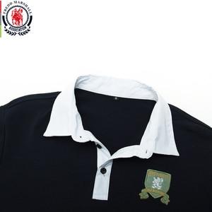 Image 3 - Fredd Marshall 2019 Autumn New Long Sleeve Polo Shirt Men Fashion Embroidered Polo Shirt 100% Cotton Casual Print Polos Tops 063