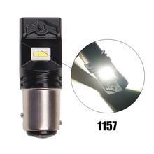 цена на 1pair S25 1156 1157 car lamp led bulb CSP chip High Power 6000k LED Fog Light Tail Brake Turn Signal Car Lamp 12V Backup Light