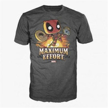 Deadpool-Deadpool Em Esforço Máximo Camisetas Tees M-3Xl Eua Men'S Women'S 2019 Popular Camiseta Tagless(China)