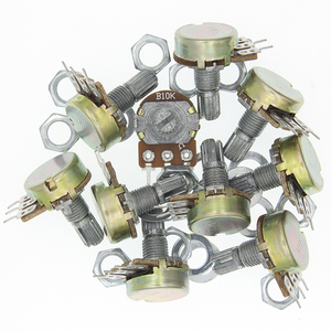 10PCS WH148 B1K B2K B5K B10K B20K B50K B100K B500K 3Pin Linear Potentiometer 15mm Shaft With Nuts And Washers(China)