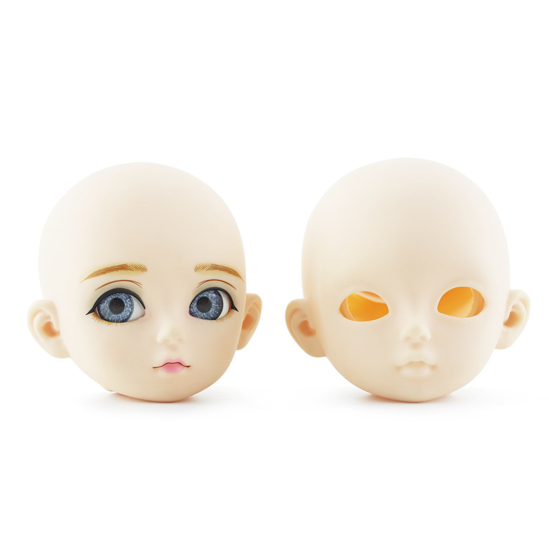 <font><b>Bjd</b></font> Doll Accessories Doll Head Opening Cover 3 Points DIY Makeup for 60cm Baby Girl Doll Head 3D <font><b>Eye</b></font> Baby Doll Gifts for Girls image