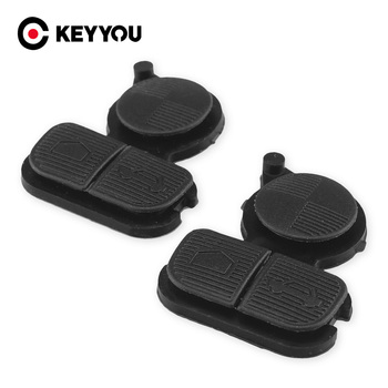 KEYYOU Replacement For BMW Series 3 5 7 E38 E39 E36 Z3 Z4 Z8 X3 X5 Rubber Key Pad Car Key Shell Cover Case Repair 3 Buttons image