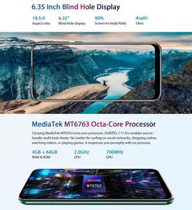 "Image 4 - Oukitel C17 Pro Android 9.0 Pie Smartphone Gezicht ID 6.35 ""Pole notch Screen 4GB RAM 64GB ROM MT6763 Octa Core 4G Mobiele Telefoon"