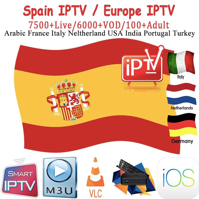 Spain Spanish Iptv Subscription M3u Abonnement Iptv Caja  Germany Italy Portugal Android Tv Box Enigma2 M3u Smart TV PC