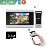 Jeatone Tuya smart 7 inch WIFI IP Video intercom phone doorbell record snapshot/video Only monitor AHD/720P32G 87710