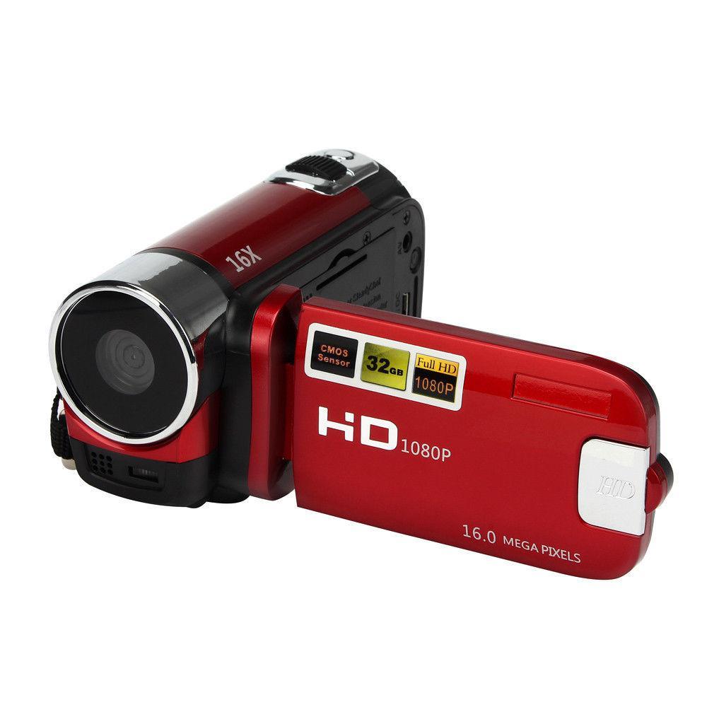 HiMISS 1080P regalos Anti-vibración cámara Digital portátil Video videocámara profesional alta definición grabación DVR videocámara DV Ultra cámara fotográfica 16MP Ultra-clear HD cámara Digital DVR 1080P Mini HD cámara de vídeo preciso cámara grabadora DVR negro