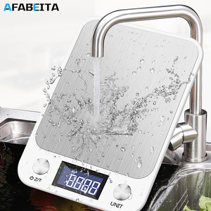 10kg/1g Digital Kitchen Food Scale Weight Scales for Cooking Baking Ultra Slim Multifunctional Tare Function Measuring Scales