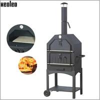 Xeoleo forno de pizza ao ar livre portátil forno de pizza a lenha pão fogo baker churrasqueira a carvão fogão de cozimento a lenha folha laminada|Fornos| |  -