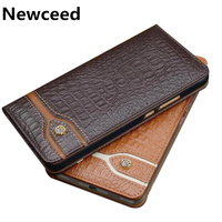 Bussiness Genuine Leather Magnetic Flip Case Coque For Samsung Galaxy J4 2018/Galaxy J3 2018 Phone Cover Coque Stand Phone Bag