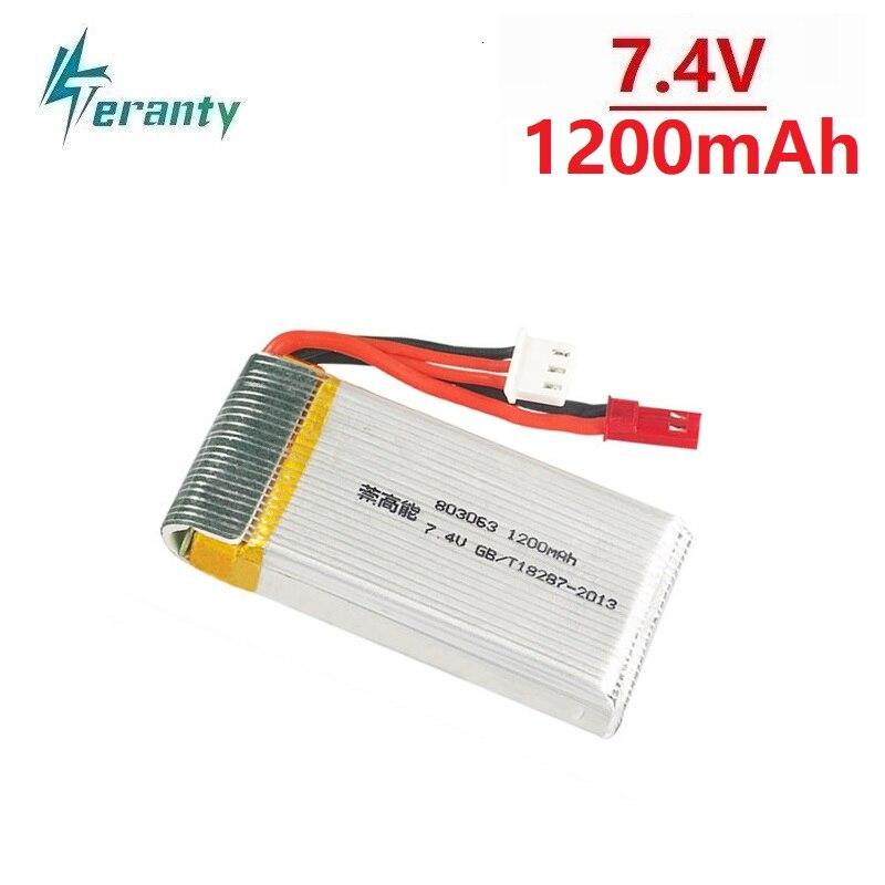 7.4V 1200mAh Battery For MJX X101 X102 RC Drone Battery For Yi Zhang X6 H16 H40WH V262 V333 V353B V666 Quadcopter Spare Parts