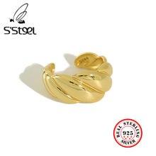 Женские серебряные кольца с блестками в стиле минимализма