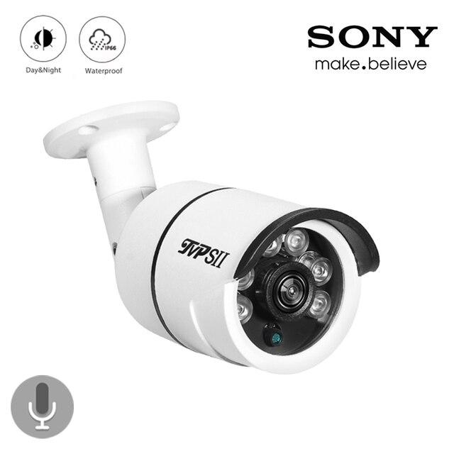 4pcs A Lot Six Array Leds 8mp 4K,5mp,4mp,2mp Outdoor IP66 Audio Waterproof Surveillance Security CCTV AHD Camera