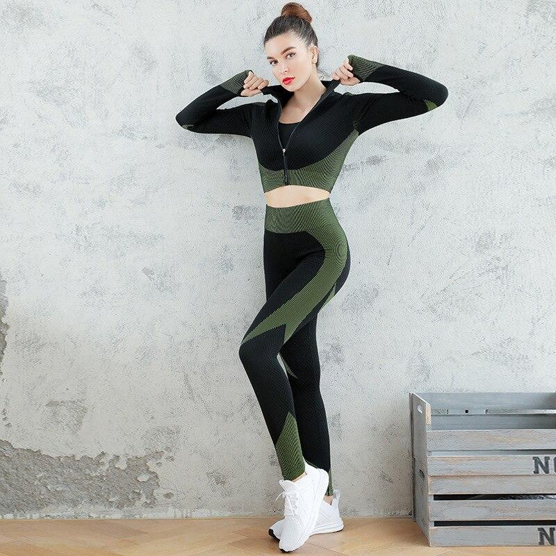 Бесшовные женские комплекты для йоги женский набор гантелей