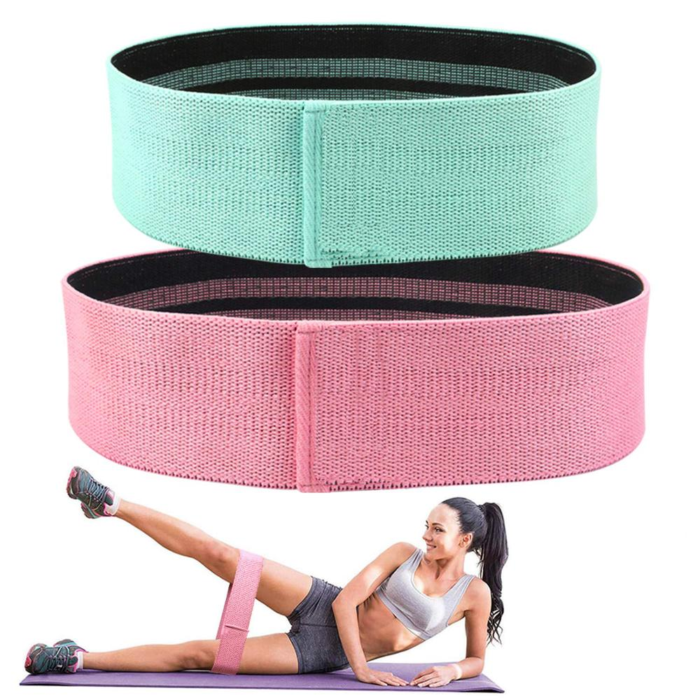 SKDK 1PC Hip Band Cotton Yoga Resistance Band Wide Booty Exercise Legs Band Loop For Circle Squats Training Anti Slip Rolling