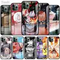 Naruto Kakashi Japanese anime Case for Apple iPhone 11 Pro XR 6 6S 7 8 Plus X XS MAX Black Soft Edge Tempered Glass Cell Phone C