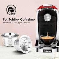 Link vip para caffitaly tchibo cafissimo aldi recarregável k fee cápsula de café pod filtros de aço inoxidável colher de calcadeira|Filtros de café| |  -