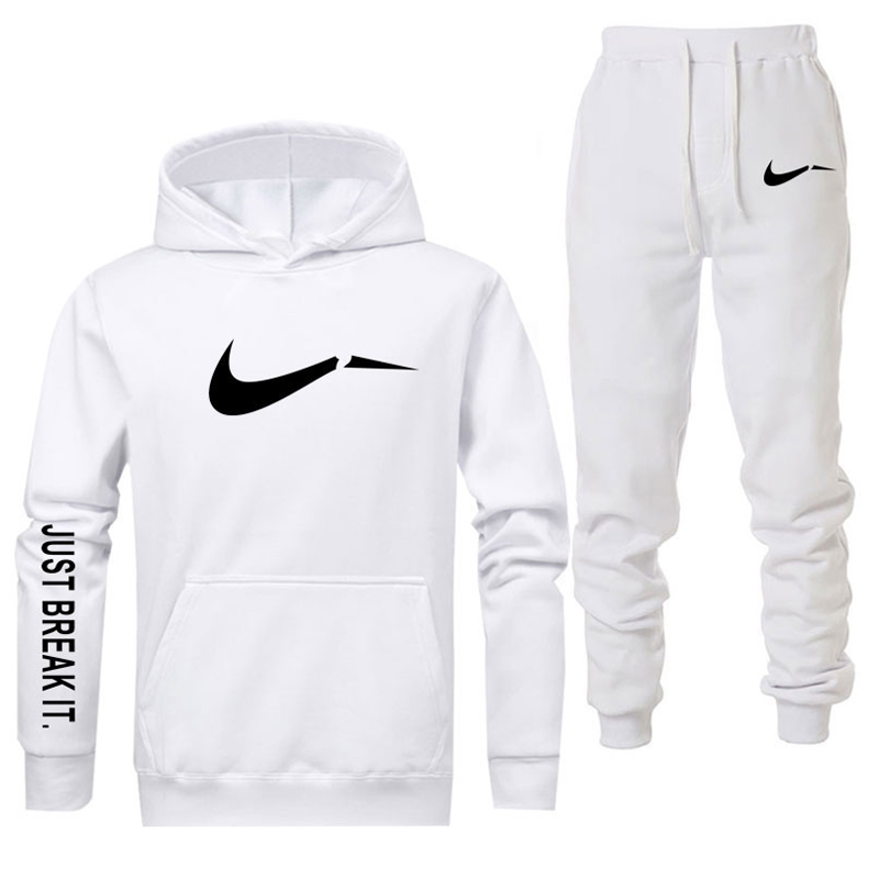 New 2019 Brand Tracksuit Men Thermal Underwear Men Sportswear Sets Fleece Thick Hoodie+Pants Sporting Suit Malchandal Hombre