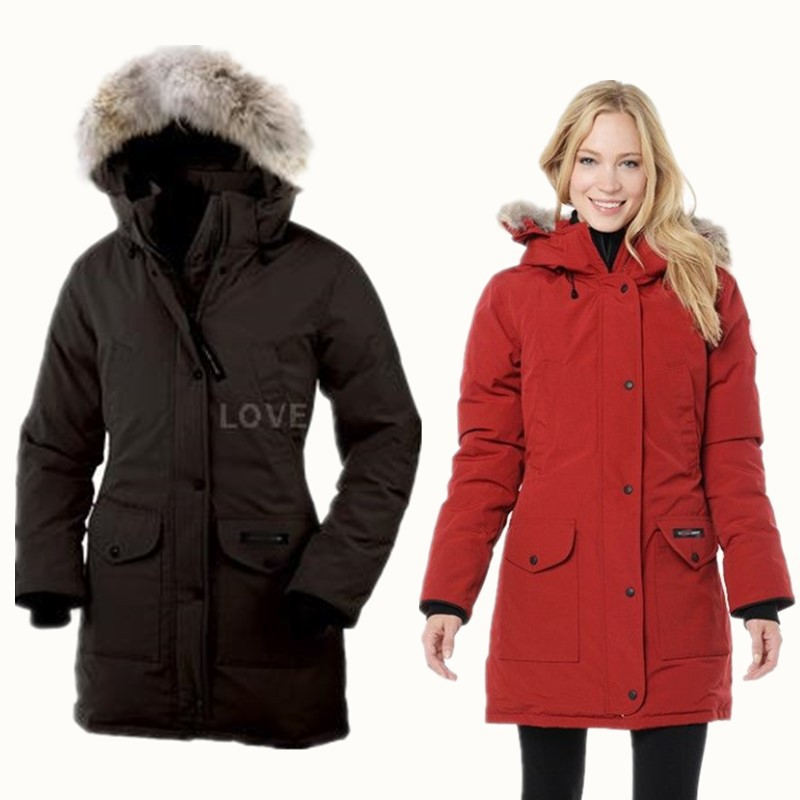 Women's Winter Mid-long Hooded Thickened White Goose Down Overcoat Real Marten Fur Collar