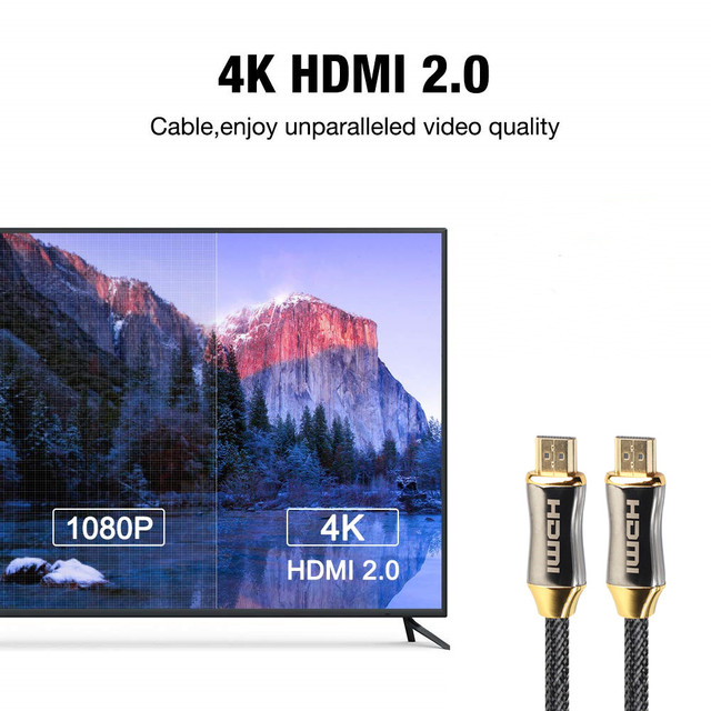 1M 2M 3M 5M 10M 15M 4K 60Hz HDMI To HDMI Cable High Speed 2.0 Golden Plated Connection Cable Cord For UHD FHD 3D Xbox PS3 PS4 TV 3
