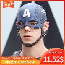 סרט קפטן אמריקה 3 מלחמת אזרחי קפטן אמריקה מסכת קוספליי סטיבן רוג רס גיבור לטקס קסדת ליל כל הקדושים לגברים מסיבת אבזר