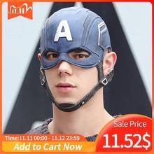 Film kapitan ameryka 3 Civil War kapitan ameryka maska Cosplay Steven Rogers Superhero lateksowy kask Halloween dla mężczyzn rekwizyt na imprezę