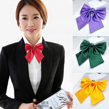 Pure color jk uniform bow tie female college style Japanese Korean student bank hotel attendant