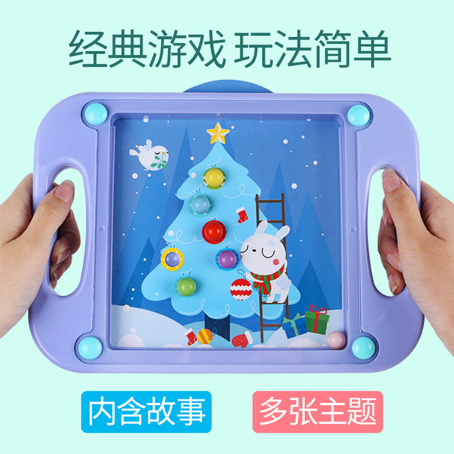 3D Kids Educational Toys For Children Baby Puzzle Montessori Maze Balance Game Popular Gift For Toddlers 2-4 Years Cartoon Cards