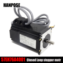 57EH76A4001  NEMA 23 1.8N.m Stepper Motor 57x76mm HBS57 Closed Loop Servo Driver CNC Controller Kit 2 phase 6 8n m closed loop stepper servo motor driver kit 86j1895ec 1000 2hss86h cnc machine kit