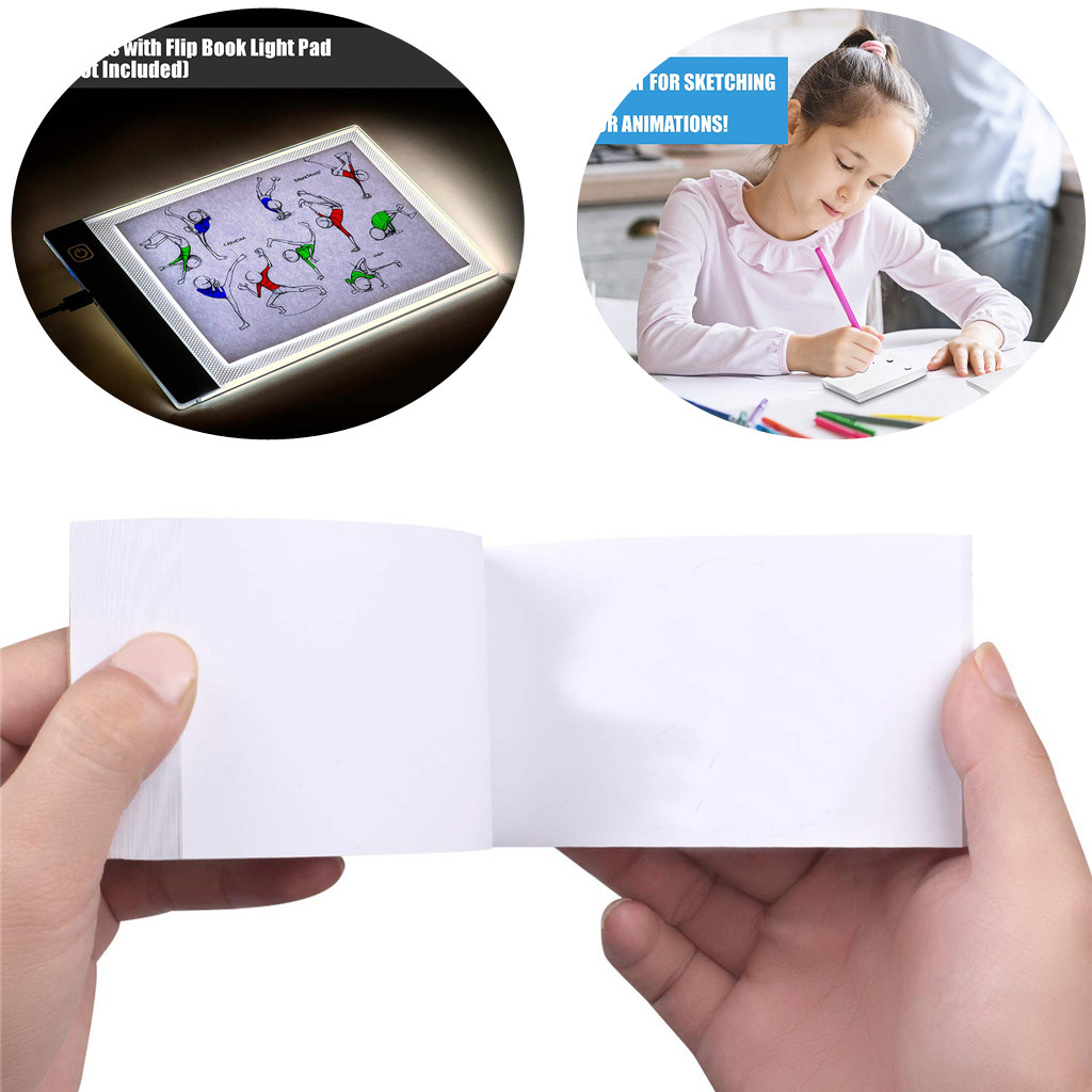 Blank Flip Book Paper With Holes 240 Sheets Flipbook Animation Paper For Drawing Sketch Book Artist Supplies