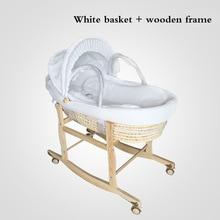 2 In 1 Newborn Baby Portable Basket Infant Crib Car Sleeping Basket Baby Bed 0-16month